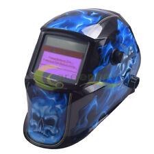 Blue Skull Solar Welder Mask Auto Darkening Welding Helmet Arc Tig Mig Grinding