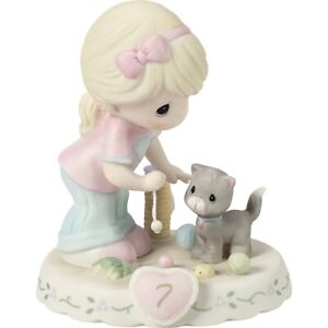Precious Moments Growing In Grace Blonde Age Seven Birthday Girl 7 154034