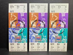 1993 NBA FINALS Full Unused Phantom Ticket Game 7 MICHAEL JORDAN 3-Peat Bulls
