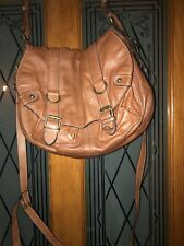 Clarks Tan Leather Satchel Tote Messenger Bag