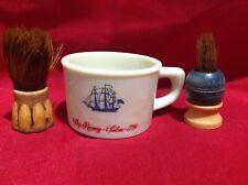 Vintage old spice shaving Mug Shulton ship recovery strand turk salem milkglass