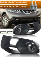 For 2011-2014 Nissan Murano Clear LED Fog Light Complete Kit Switch+Harness