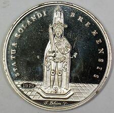 1979 Gem Proof Bank For Gemeinwirtschaft German Taler Roland Silver Medal