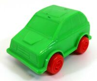 1970s Vintage Plasto Finland Green Rubber Plastic Car
