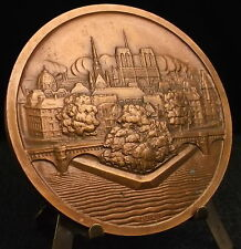 Médaille Ville de Paris île de la cité Notre-Dame Monuments par P Turin Medal 铜牌