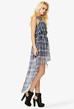 SALE! Forever 21 Abstract Print Sleeveless High Low Maxi Dress SMALL
