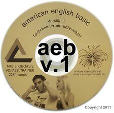 VOKABELTRAINER ENGLISCH LERNEN SPRACHKURS. Audio MP3 DVD 5 STD. Hörprobe unten.