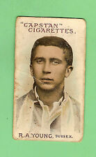 AUSTRALIAN & ENGLISH  CRICKETERS CIGARETTE CARD 1908  #70 R.A. YOUNG