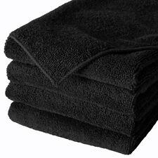 6 BLACK MICROFIBER TOWELS NEW CLEANING CLOTHS BULK 16X16 MANUFACTURERS SALE