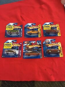 SET OF SIX HOT WHEELS SPECIAL EDITION BOXED CARS. UNOPENED. DATED 2007/2008.
