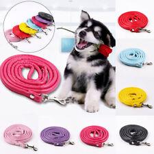 120cm Pet Soft PU Leather Dog Harness Pet Puppy Walking Training Lead Leash Bulk
