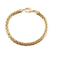 Bracelet Maille Palmier Plaqué Or 18 Carats  Bijoux Femme