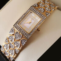 Elgin Ladies Gold-tone, Austrian-Crystals, Dress Watch, EG8012