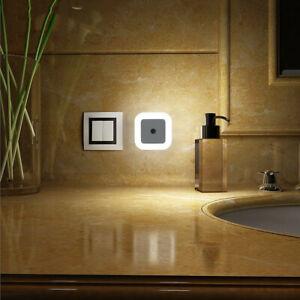 2x LED Nachtlicht Mit Bewegungsmelder Für Steckdose LED Nachtlicht Nachtlampe