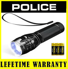 POLICE LED Flashlight With Adjustable Focus 3 Light Modes + Battery Included