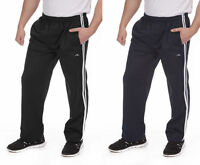 Mens Adults 2 Stripe Jog Pant Jogging Tracksuit Gym Bottoms Trousers Size M - 2X