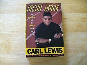 "Book - ""Inside Track"" - Carl Lewis - 1990 - Hardcover - NICE"