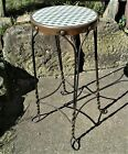 Antique Ice Cream Parlor Tall Stool w Twisted Wire Legs 1920s No. 5