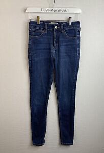 TOPSHOP • Blue Jamie Stretch Denim Jeans • W28 L32 (W26 IL26.5) 8 10