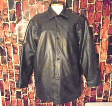 GAP Genuine Leather Brown Retro 2000 Cargo Jacket Mens Size M EUC 1