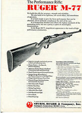 1974 Print Ad of Sturm Ruger M-77 The Performance Rifle