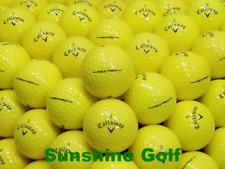 24 MINT Callaway Hex Pro YELLOW AAAAA Used Golf Balls - FREE SHIPPING