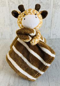 Giraffe Brown & White Striped Security Blanket RN# 119741 Lovey SL Home Fashions