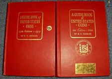 LOT OF TWO VINTAGE YEOMAN RED GUIDEBOOKS TO AMERICAN COINS 1974, 1988 HARD COVER