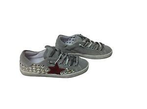 scarpe sneaker basse uomo grigie made in italy stella rossa BORCHIE Via condotti