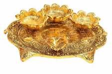 Pooja Thali for Diwali (8.5 inches) Aarti Religious Decor India Havan Tilak