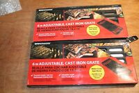 Brinkmann 6 in. Adjustable Cast Iron Cooking Grate Lot Of 2 Pieces