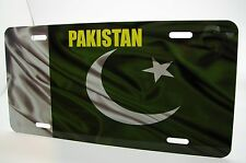 PAKISTAN FLAG METAL LICENSE PLATE FOR CARS AND TRUCKS...!