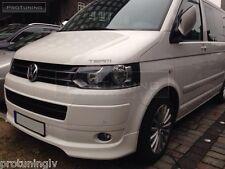 VW T5 09-15 Caravelle Multivan Front Bumper spoiler lip Valance addon OEM style