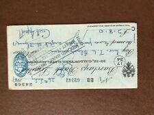 b1u ephemera cashed barclays bank 62242 july 1947 aspell
