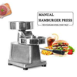 10cm/13cm Manaul Hamburger Press Machine  Patty Press 500pcs Oil Absorbing Paper