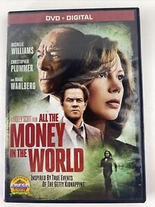 ALL THE MONEY IN THE WORLD DVD 📀 MICHELLE WILLIAMS MARK WAHLBERG No Digital
