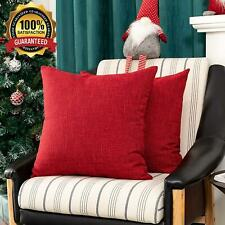 Kevin Textile Farmhouse Faux Linen Decorative Throw Pillow Case Cushion Cover Pi