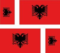 4 x albania albanian flag decals sticker bike car vinyl luggage helmet
