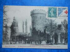 CONDÉ-sur-ITON  :  Le Vieux Château à Tourelles.....VO.1912......Voir le TIMBRE.