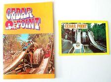 Vintage 1970's Cedar Point Amusement Park Book & Picture Postcard Book Lot