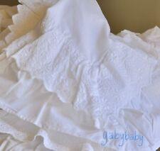 Rachel Ashwell Simply Shabby Chic White Poplin Ruffle Lace Duvet Set  Full/Queen