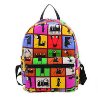 Women's Girls College Canvas Satchel Cute Backpack Shoulder Bag Rucksack Handbag