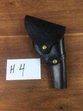 Brauer Bros Black Leather Flap Holster-stamped F H 7  F-H7 Vintage Pistol Belt