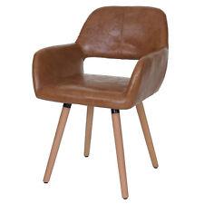 Chaise de salle à manger Altena II, design rétro ~ similicuir, aspect daim