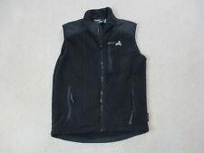 Eastern Mountain Sports Vest Adult Small Black Gray Fleece Outdoors EMS Mens