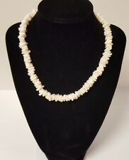 Vintage Unisex Ivory White Puka Shell Chip Hawaiian Necklace
