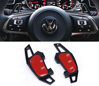 Black Metal Paddle Shifters VW Scirocco Polo R GTI Extensions DSG Paddles 2014+