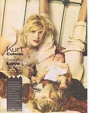 COUPURE DE PRESSE CLIPPING 1993 KURT COBAIN & COURTNEY LOVE (2 pages)