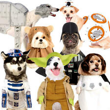 More details for star wars dog fancy dress halloween sci fi film animal puppy pet costume outfits