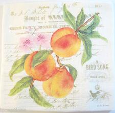Alice's Cottage Cotton Flour Sack Kitchen Tea Towel Peaches - NEW